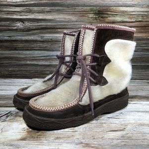 Vintage Moccasin Animal Hair Chukka Boots Boutique